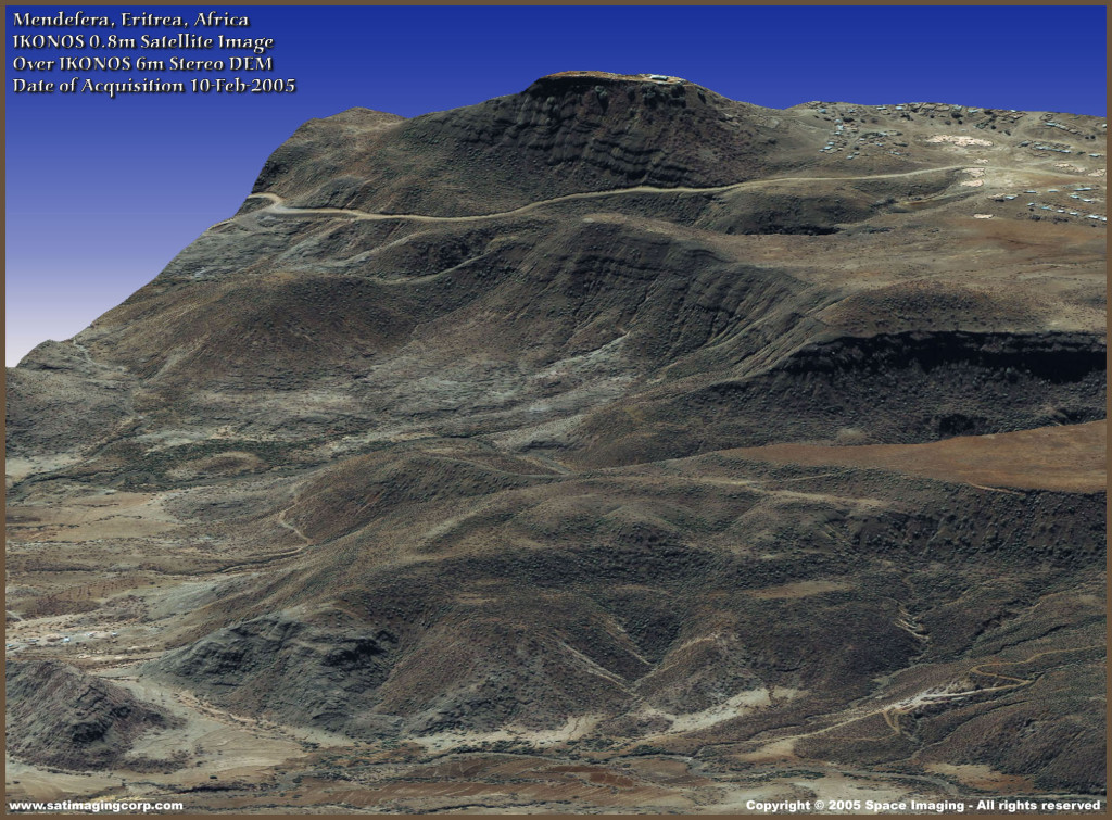 Digital Elevation Model (DEM) - Eritrea, Afrika - IKONOS Gambar