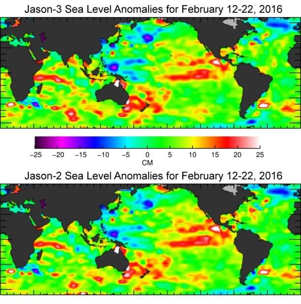 jason 3 sea level anomalies