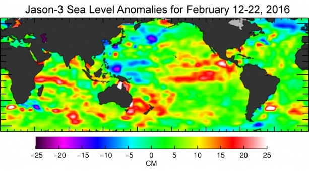 jason 3 sea level anomalies for feb 2016
