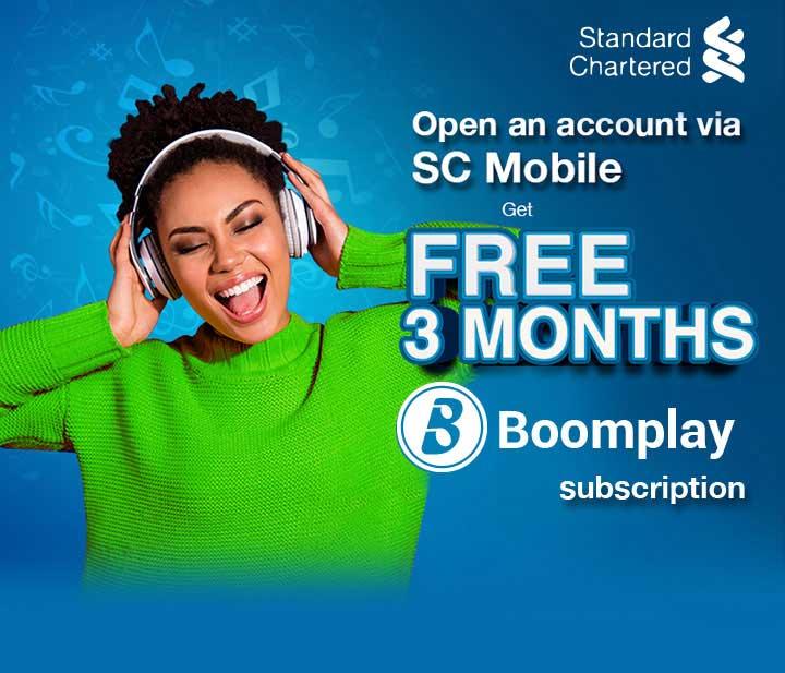 Standard Chartered Bank Free Boomplay Premium