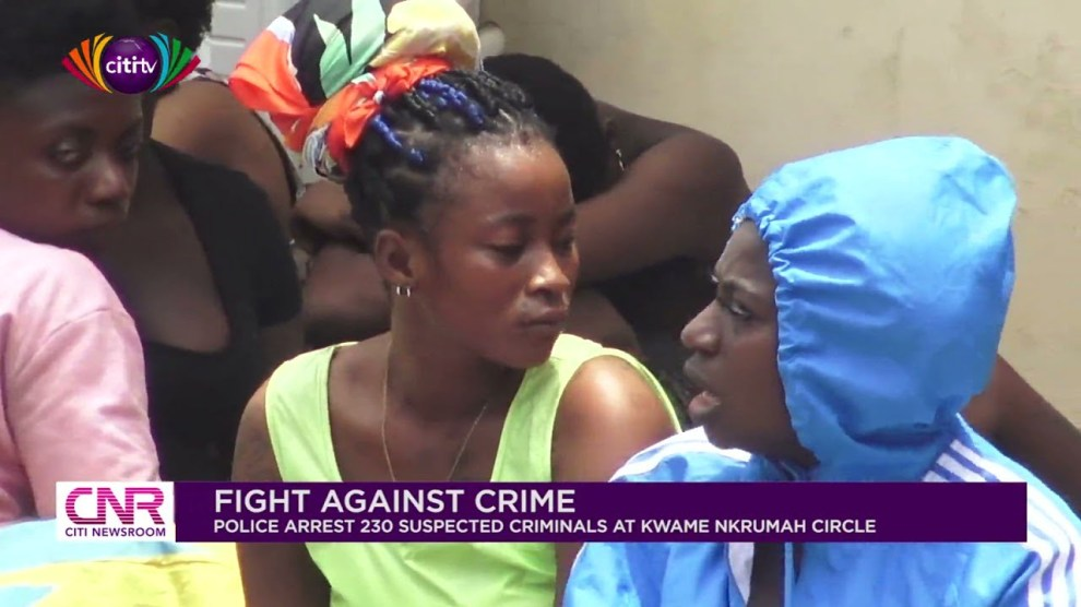 Ashawo sex workers arrested by Ghana Police Service