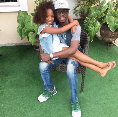 Finally, Julius Agwu Returns Home, Bonds with Daughter [Photo]