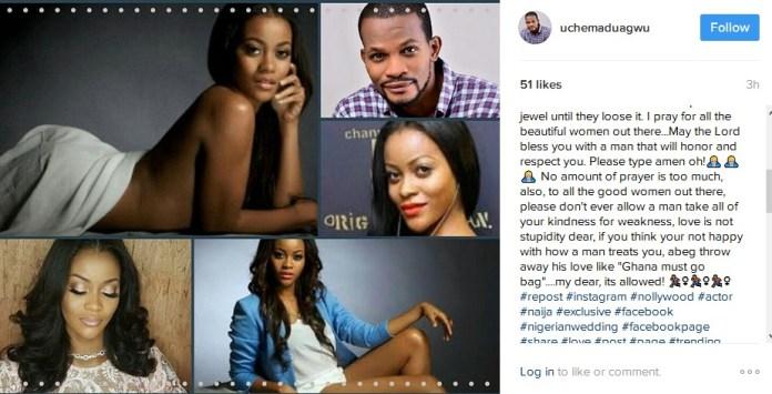 "Controversial Nollywood Actor ""Uche Maduagwu"" Comes to Daniella Okeke's Defense, Also Fights for Damilola Adegbite [Read What He Said]"
