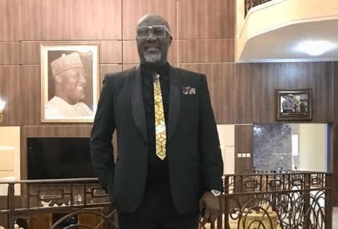 Check Out Senator Dino Melaye's Gold Tie To Senator Saraki's Daughter's Wedding In Abuja [Photos]