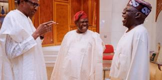 Photos: President Buhari Spotted with APC Leaders Asiwaju Bola Ahmed Tinubu and Chief Bisi Akande