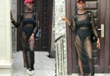 #BBNaija: Khloe, flaunts underwear in transparent outfit [Photos]
