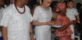 Precious Chikwendu, Femi Fani Kayode's Wife, Buries Late Mum [Photos]