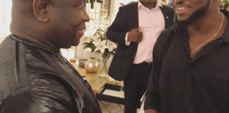 Photos of Miracle Igbokwe As He Meets President of Sierra Leone Julius Maada Bio
