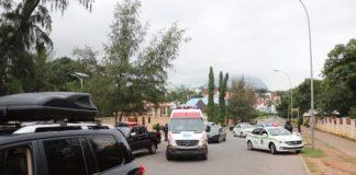 Photos of Security Operatives as They Lay a Siege on Saraki, Ekweremadu's Residences [Photos]