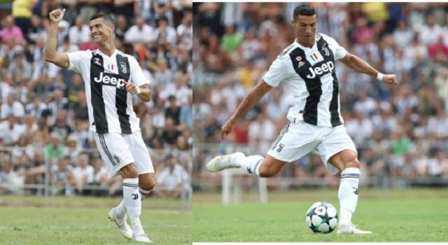 It Took Cristiano Ronaldo, Just 8 Minutes Scores His First Juventus Goal