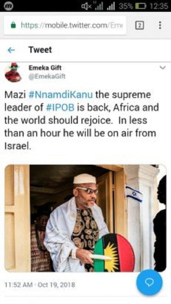 IPOB Messiah, Nnamdi Kanu Is Back, Spotted Praying In Jerusalem [Photos]