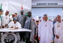 Photos of President Buhari As He Commissions New Multi-Million Dollar Terminal at the Nnamdi Azikiwe International Airport, Abuja
