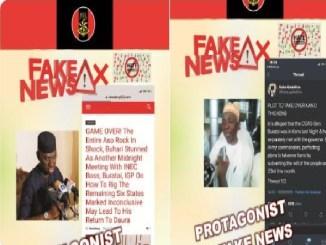 Nigerians Army Goes Into Politics, Shares Photos of Politicians Spreading Fake News