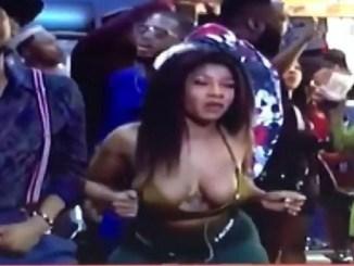 BBNaija: Tacha Suffers Wardrobe Malfunction [Video/Photos]