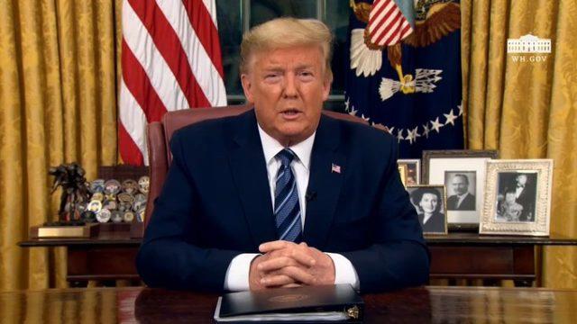 Finally, Trump condemns Capitol Hill attack