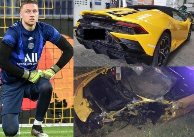 PSG Goalkeeper, Marcin Bulka Wrecks £200k Rented Lamborghini In Horror Auto-Crash