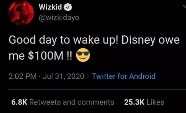 """Wizkid Smokes Too Much""- Fan Reacts To Wizkid's Post"