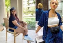 Regina Daniels Mum, Rita Daniels Dragged For Wearing Bum Short in Public (Photo)