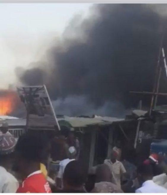 Just In: Popular Gwarimpa, Abuja Market On Fire (Photos)