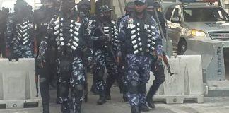 Breaking: Police in Full Riot Gear Storm Lekki Toll Gate (Video)