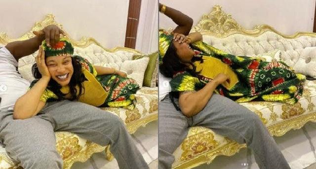 'Olakunle Churchill You're a man', Kpokpogri hails Tonto Dikeh's ex-husband amidst breakup [PHOTOS]