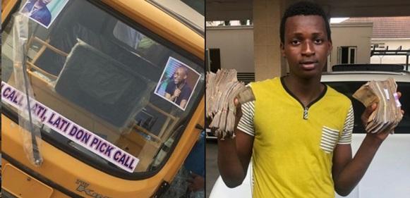 'I Call Lati' Boy Buys Keke Napep For Transport Business, Davido Reacts