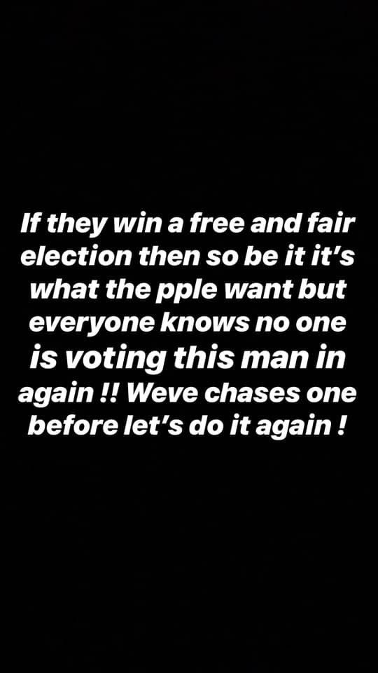 Davido Sends Powerful Message To Nigerians – No One Is Voting This Man In Again. We've Chased One Before, Let's Do It Again' 5c5fe9afb7cef