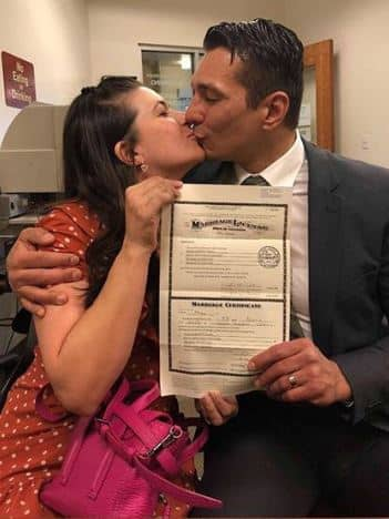 Wao!!!  Cousins legally tie the knot in the U.S