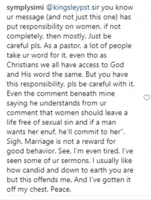 Screenshot 20190318 090925 311x410 - See why Simi is so offended by this pastor's sermon
