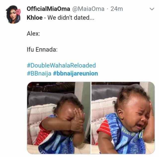We didn't dated: Alex, Ifu Enada react as Khloe commits a grammatical blunder 3