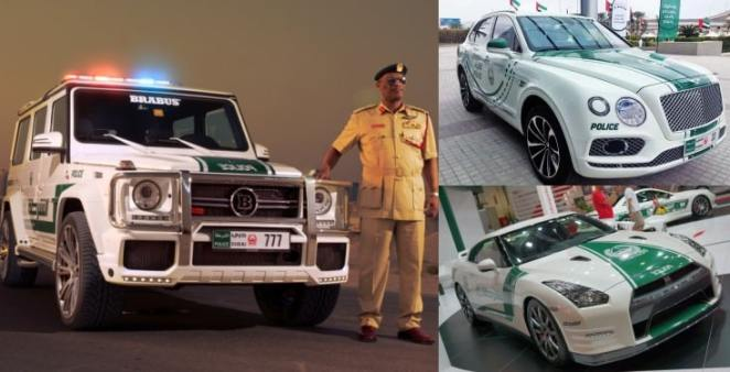 Nigerians react as Dubai Police flaunt their exotic luxurious police cars