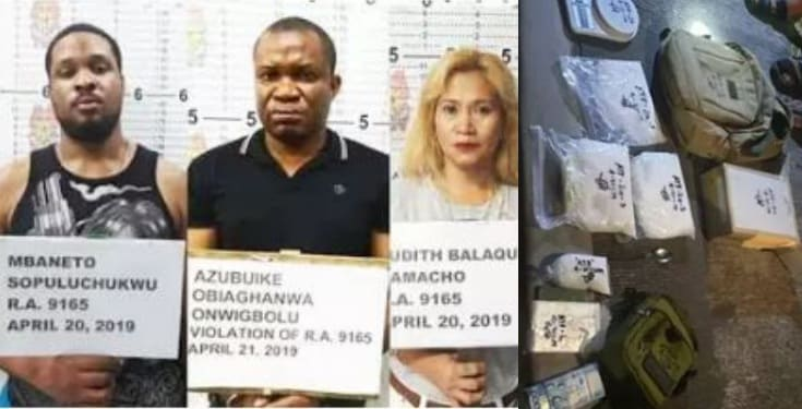 Two Nigerians nabbed with ₦125 million worth of drugs in Philippines