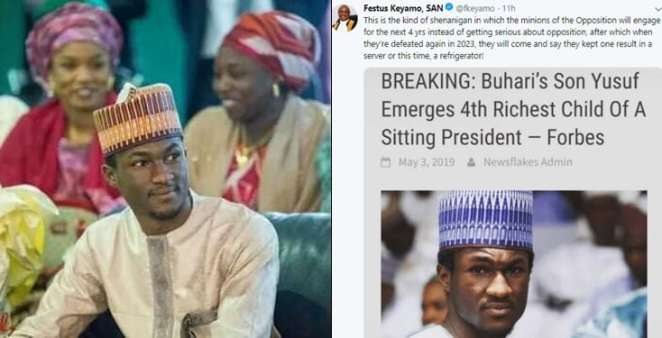 """Nigerians react as """"Forbes names Yusuf Buhari as 4th richest child of a president"""