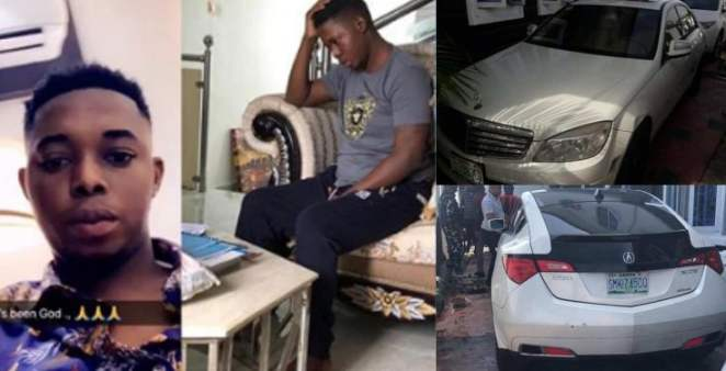 Popular Yahoo kingpin, Onoriode, 3 others arrested in Calabar (Photos)