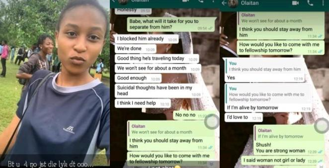 See last chat of 100 level UNIPORT student who committed suicide