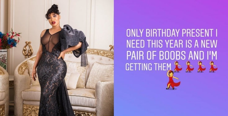 Tonto Dikeh appeals to Jesus for help as she desires new pair of boobs