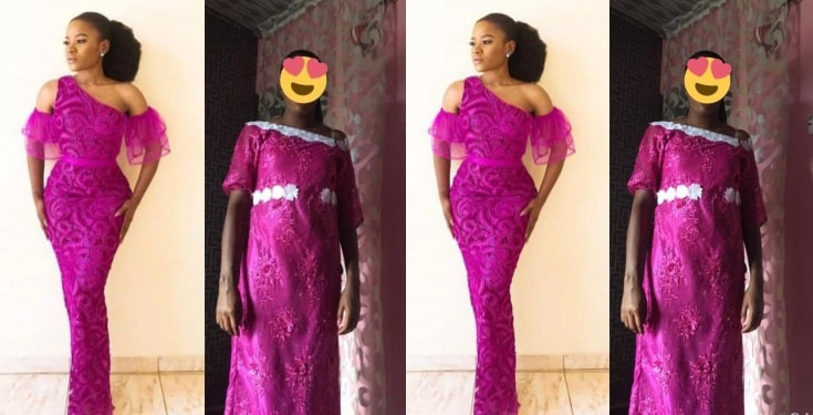 Lady shares what her friend asked for and what the tailor made