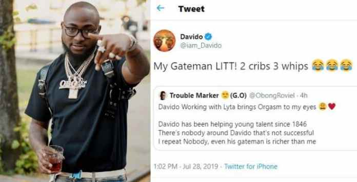 Image result for Davido: My gateman has two houses and three cars