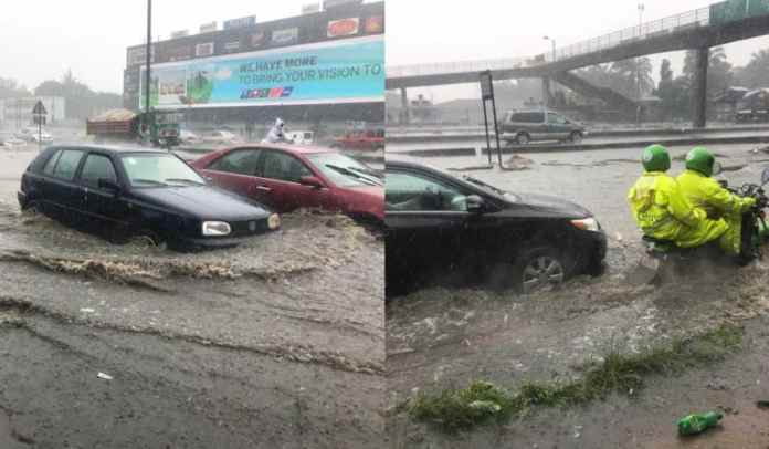 Flood2 Ikorodu Cries for Help as   Flood takes over  road in Lagos following downpour (Photos)