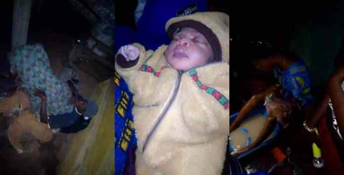 Nurse delivers a mentally challenged lady of a baby by the road (photos)
