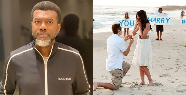 How can you open your eyes and PROPOSE to a girl with no JOB- Reno Omokri
