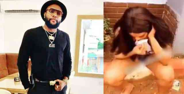 Man batters girlfriend for using singer Kcee's photo as her phone's wallpaper (video)