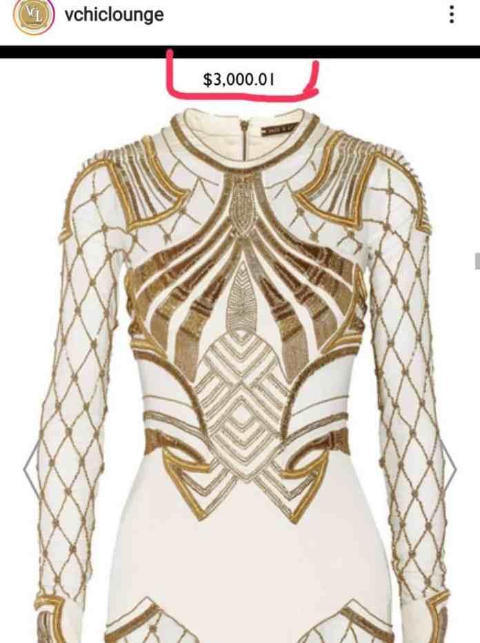 BBNaija: Tacha's homecoming dress cost over N1 million