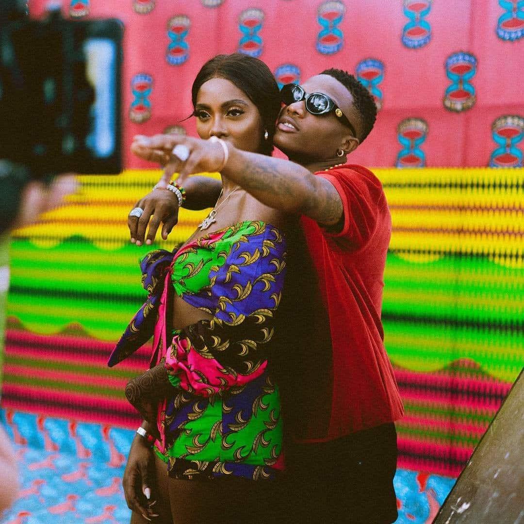 Photo of Wizkid  kissing Tiwa Savage on her forehead – Tiwa Savage posted