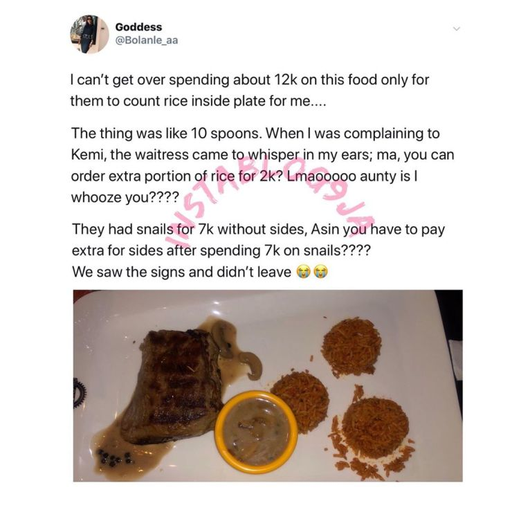 Nigerian lady laments about the quantity of food she got for N12k in Lagos 2