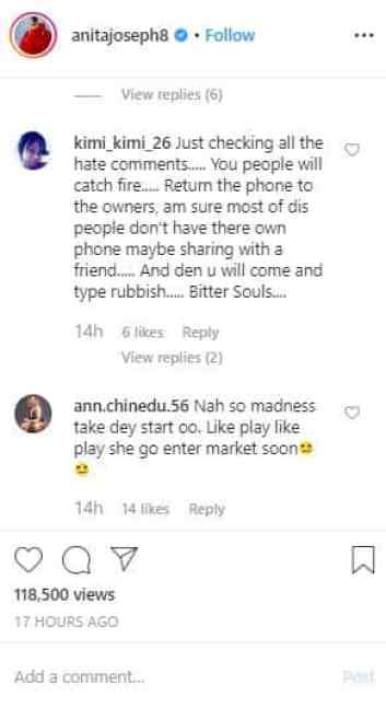 ENTERTAINMENT NEWS: Nigerians blast Anita Joseph for posting a bathtub video 4