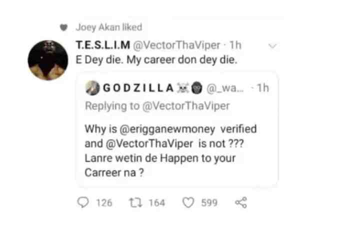 """My career don dey die"" – Vector cries out"