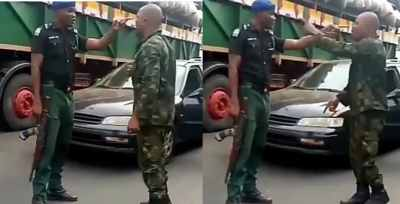Policeman and Soldier fight over superiority