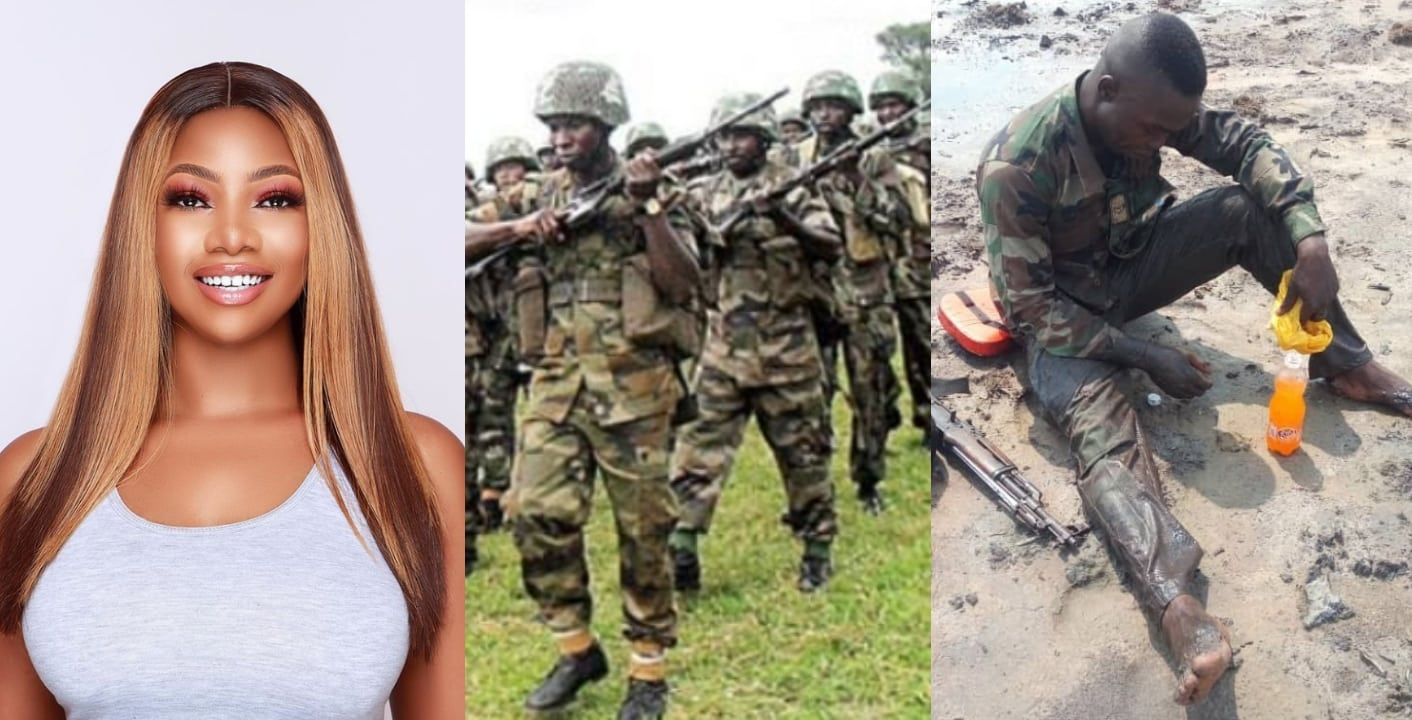 "Tacha prays for Nigerian soldiers fighting Boko Haram ""We owe them a lot"""