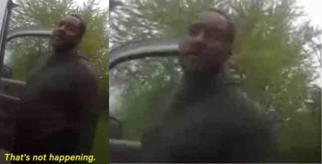 Police officer tells Black man to lick his own urine (video)